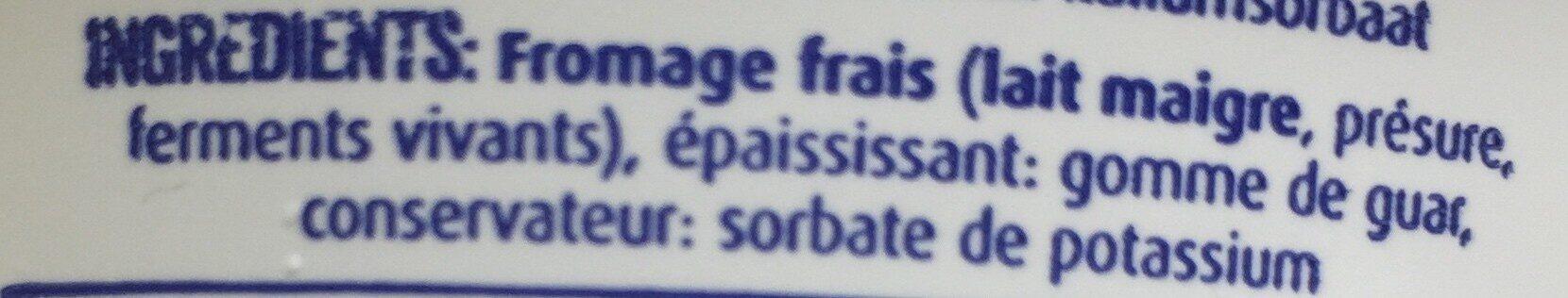 Fromage blanc maigre - Ingrediënten - fr