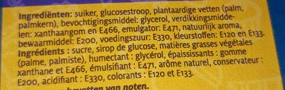 Pâte à sucre bleue - Ingrediënten