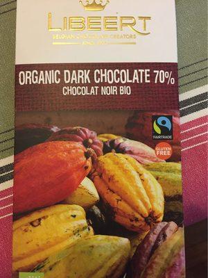 Organic Dark Chocolate 70 % - Produit - fr