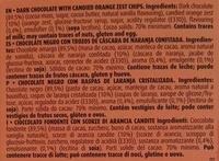 Dark chocolate with orange peel 70% cocoa - Ingredientes