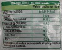 Perejil troceado - Información nutricional