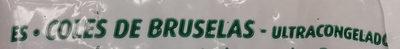Coles de bruselas - Ingredientes