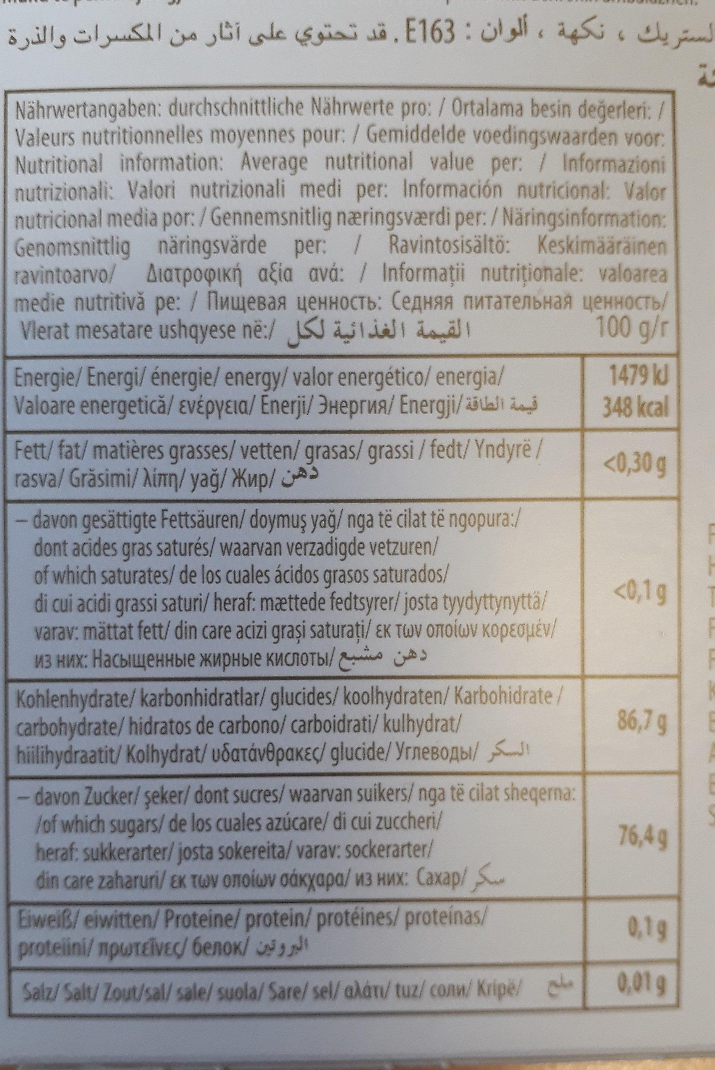 Sebahat Turksfruit Rozen - Ingrédients - en