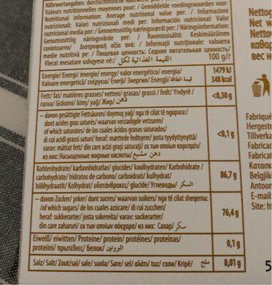 Sebahat Turksfruit Rozen - Informations nutritionnelles - en