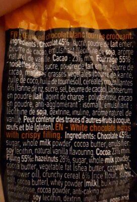 Oeuf chocolat blanc croquant - Ingrédients - fr