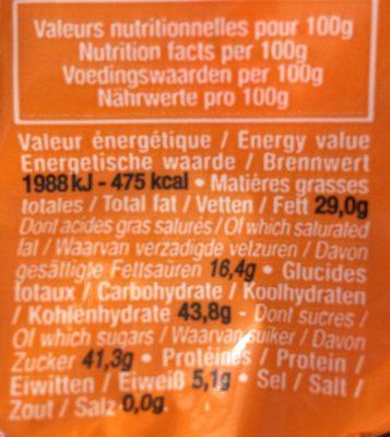 Les Œufs Noir Framboise - Informations nutritionnelles - fr