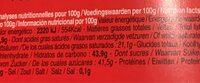 Chocolatier - Informations nutritionnelles - fr