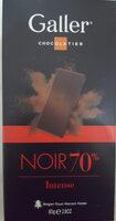 Tablette Galler Noire Intense 70% - Produit - fr