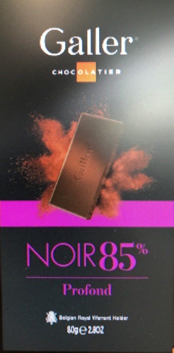 Tablette Galler Noir 85% Profond - Produit - fr