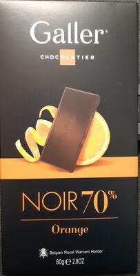 Tablette Galler Noir 70% Orange - Produit - fr