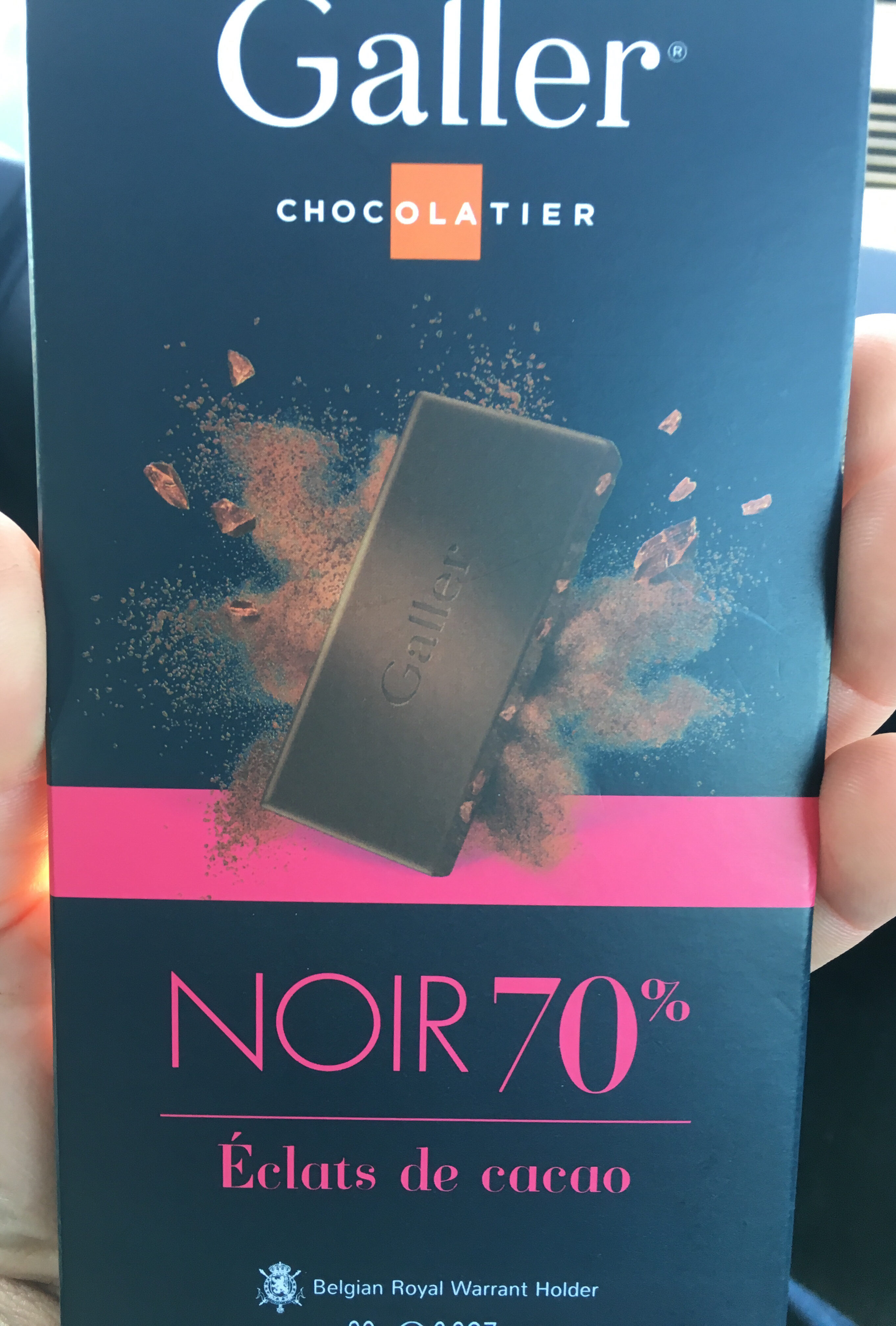 Tablette Galler Noir 70% Eclats de cacao - Produit - fr