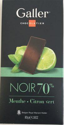 Chocolat Noir Menthe - Citron vert - Product