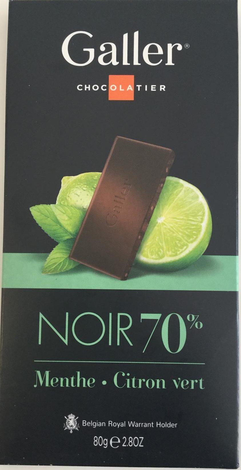Chocolat Noir Menthe - Citron vert - Product - fr