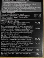 Chocolat Noir Menthe - Citron vert - Voedingswaarden - fr