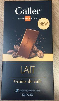 Tablette Galler Lait Grains de café - Produit - fr