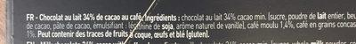 Tablette Galler Lait Grains de café - Ingrédients - fr