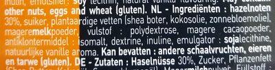 Pâte à tartiner Noisette - Ingrediënten - nl