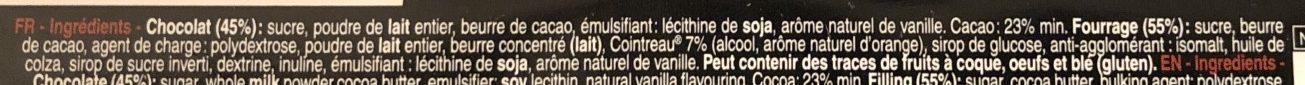 Bâton Galler Cointreau-Blanc - Ingrédients - fr