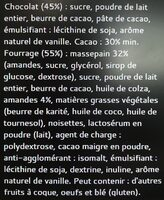 Bâton Galler Massepain-Lait - Ingrediënten - fr