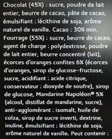 Bâton Galler Mandarine Napoléon-Lait - Ingrédients - fr