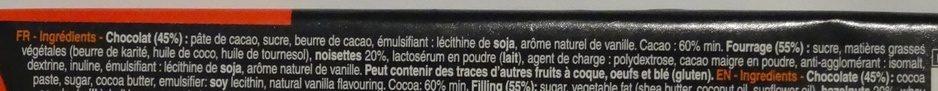 Bâton Galler Praliné-Noir - Ingrédients - fr