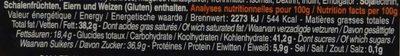 Bâton Galler Praliné-Noir - Informations nutritionnelles - fr
