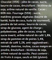 Bâton Galler Café Liégeois-Noir - Ingrédients - fr