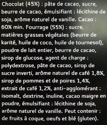 Bâton Galler Café Liégeois-Noir - Ingrédients