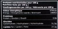 Bâton Galler Café Liégeois-Noir - Informations nutritionnelles - fr