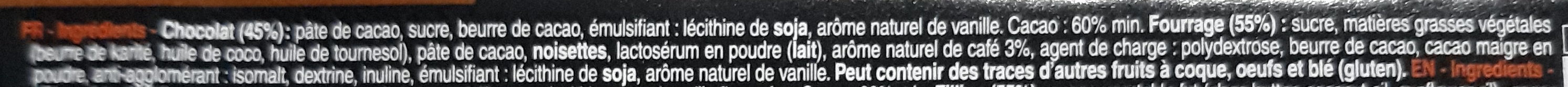 Bâton Galler Café-Noir - Ingrédients - fr