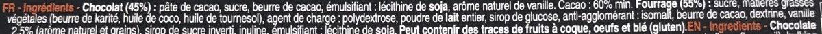 Bâton Galler Vanille-Noir - Ingrediënten - fr