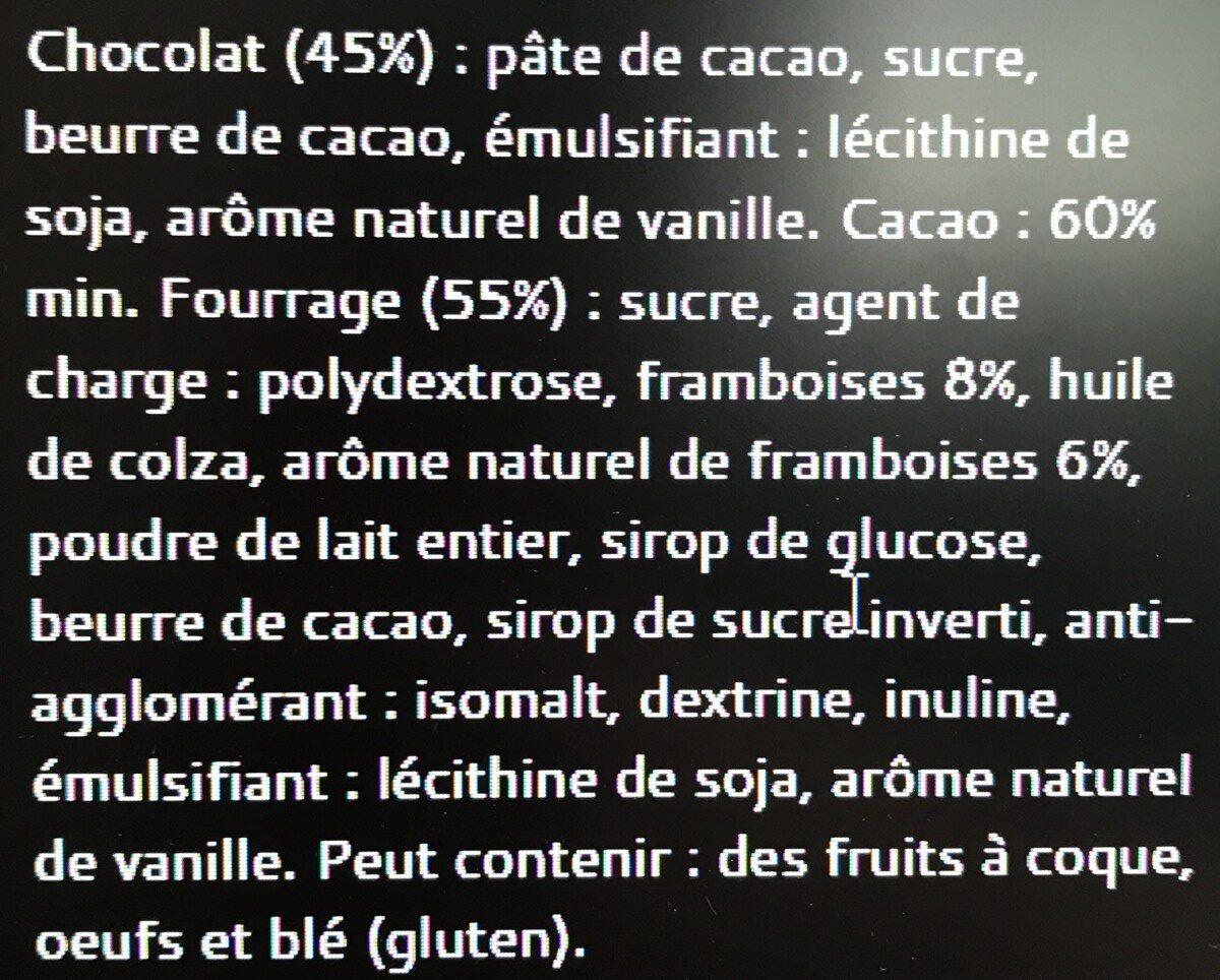 Bâton Galler Framboise-Noir - Ingrediënten - fr