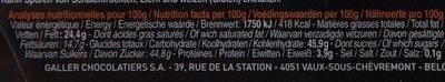 Bâton Galler Framboise-Noir - Voedingswaarden - fr