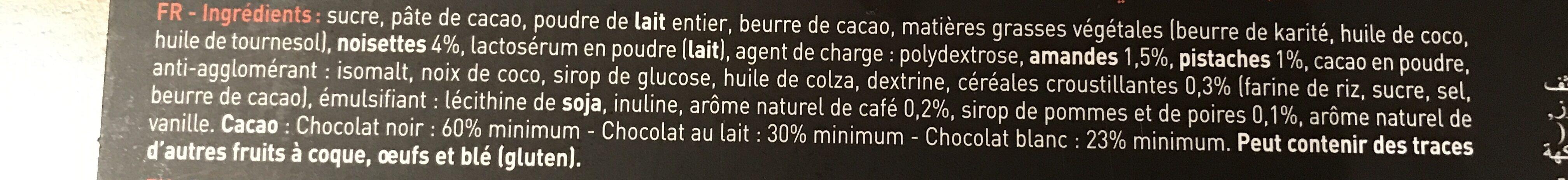 Etui Cadeau 18 Mini-pralinenriegel - Ingrédients - fr