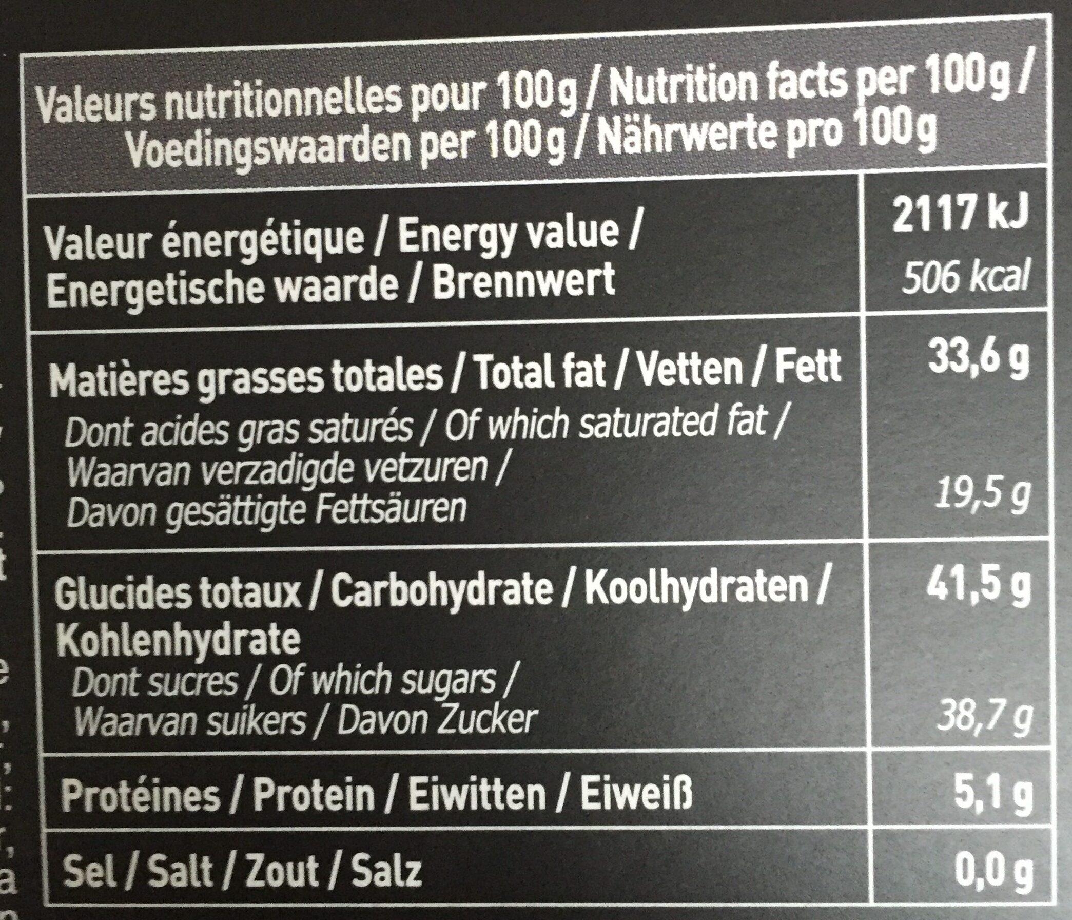 Les mini's bâtons - Nutrition facts - fr