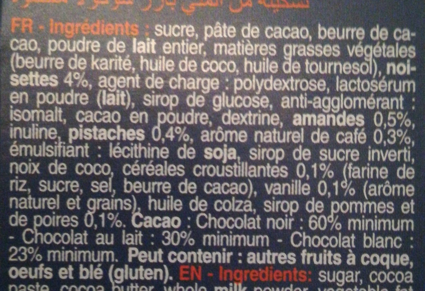 Les Mini's bâtons - Ingrédients - fr