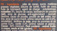 Les mini's bâtons noir assortiment - Ingrédients - fr