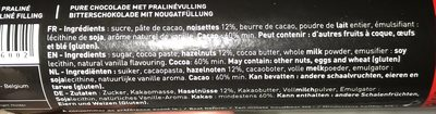 Bouchees Pralines-dark 9 Pralinen - Ingredients