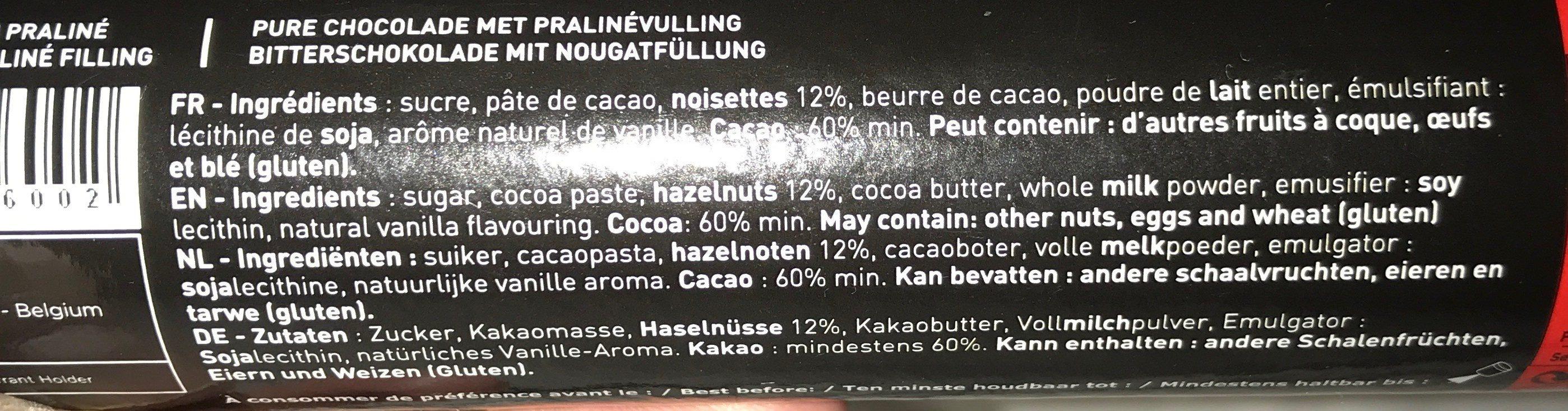 Bouchees Pralines-dark 9 Pralinen - Ingredients - fr