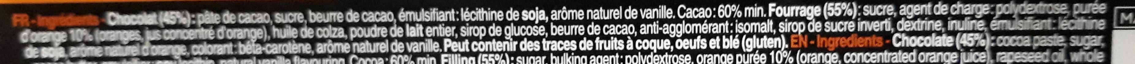 Bâton Galler Orange-Noir - Ingrediënten - fr