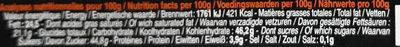 Bâton Galler Orange-Noir - Nutrition facts