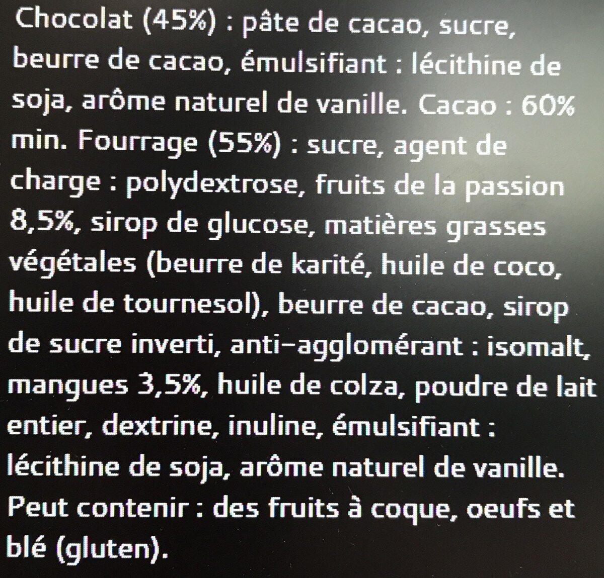 Bâton Galler Mangue Passion-Noir - Ingredients - fr