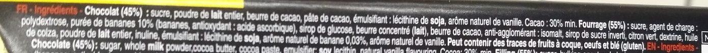Bâton Galler Banane-Lait - Ingrediënten - fr