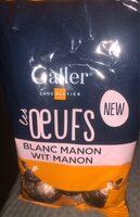Galler Les Oeufs Blanc Manon - Produit - fr