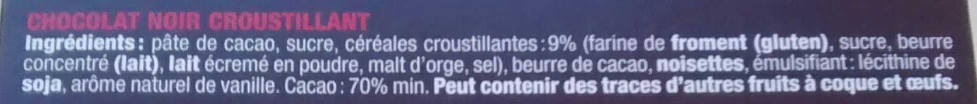 noir croustillant - Ingrédients - fr
