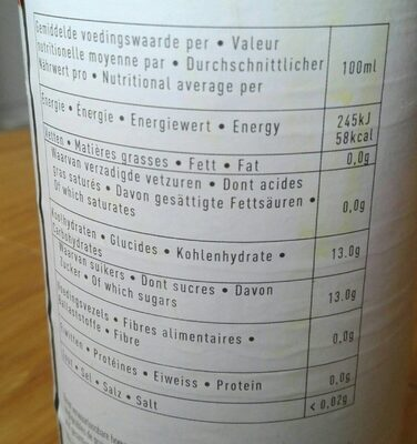 Granaatappel - Informations nutritionnelles