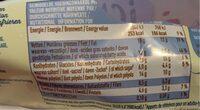 Icy light vanille stick - Informação nutricional - fr