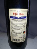 Bouteille De Bière Saint Feuillien Triple 75CL 8°5 - Ingredients - fr