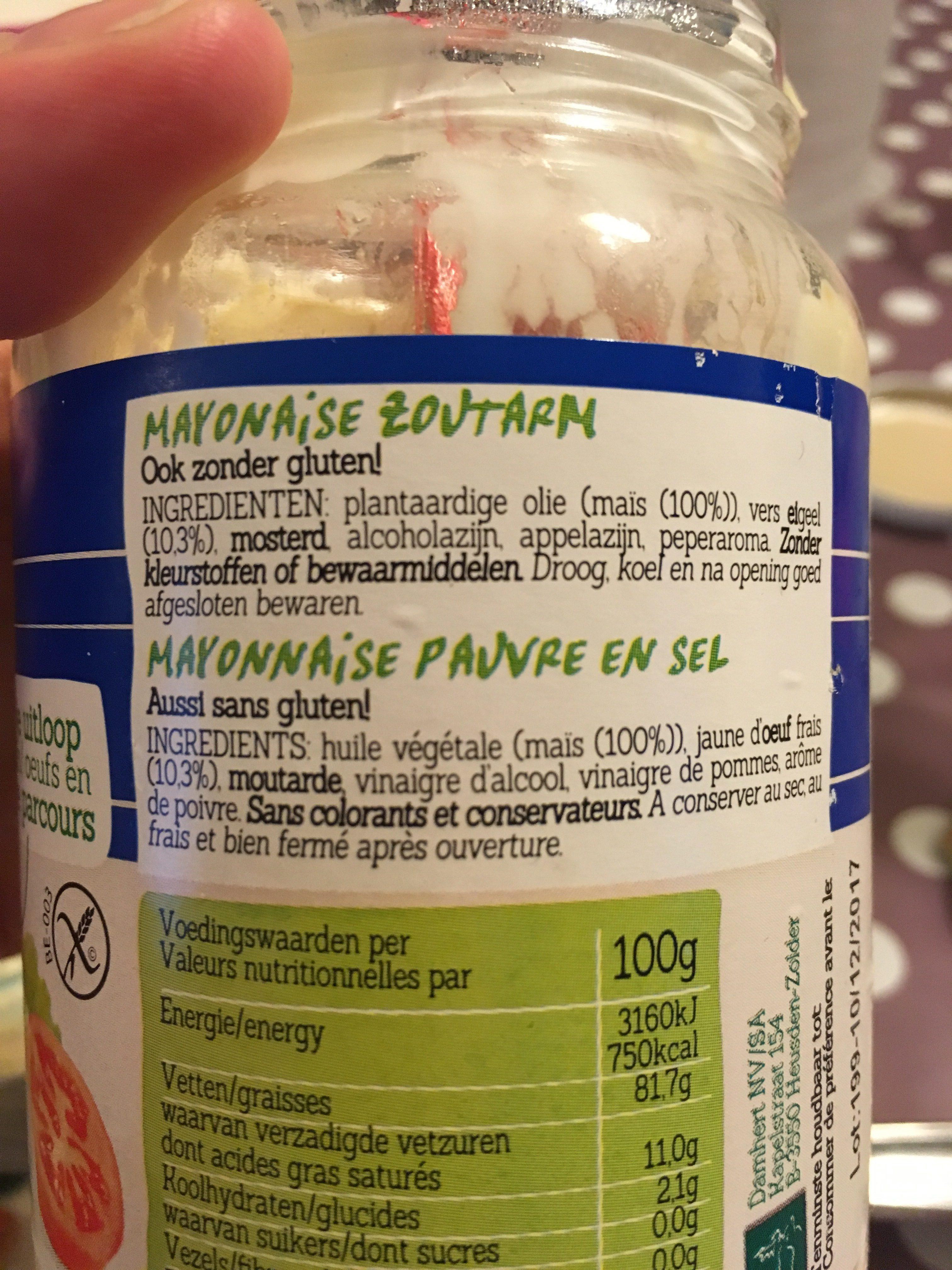 Mayonnaise sans gluten sans sel dambert - Mayonnaise sans vinaigre ...