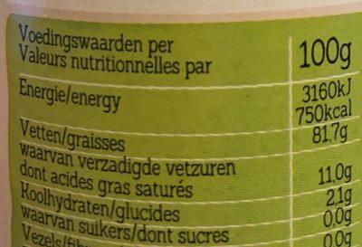 Mayonnaise Sans Gluten, Pauvre en Sel - Nutrition facts
